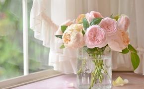 Картинка розы, букет, ваза