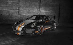 Картинка купе, 911, Porsche, черная, порше, Black, GT3, 2014, TechArt