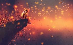 Картинка Человек, Астронавт, Art, Фантастика