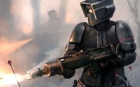 Картинка Star Wars, Art, Scout Trooper, Flamethrower