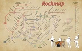 Обои map, rock, рок, line, карта