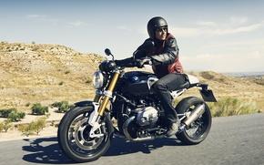 Картинка BMW, moto, road, design, power, speed, classic, NineT, Roland Sands