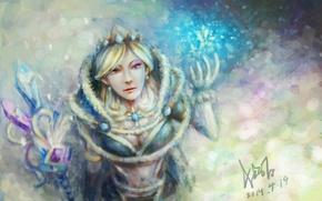 Картинка Art, Valve, Crystal Maiden, Dota 2, Sketchy Fan
