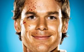 Обои Dexter, кровь, глаза, Декстер