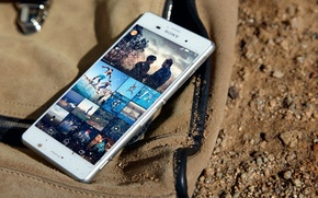 Картинка Sony, White, Sand, 2014, Xperia, Smartphone, Protected