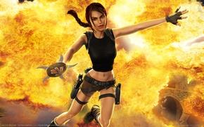 Картинка взрыв, оружие, огонь, пламя, разрушение, приключения, the, action, lara, гробниц, расхитительница, крофт, croft, лара, raider, ...