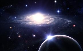 Обои Звезды, Галактика, Планеты, Galactic Segregation