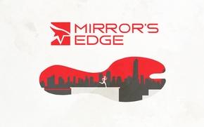 Картинка ступня, poster, mirror's edge, Зеркальная грань, art