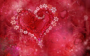 Обои цветы, праздник, сердце, день валентина, Valentine flowers