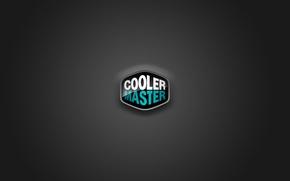 Обои cooler master, logo, logo, blue