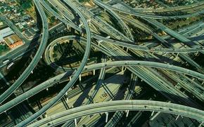 Обои перекрёсток, дорога, шоссе