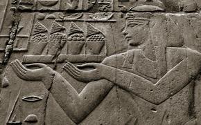 Картинка стиль, стена, Египет, древность
