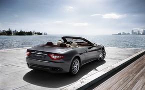 Картинка море, Maserati, Италия, кабриолет, top, back, main, Мазера́ти, main_backtarga