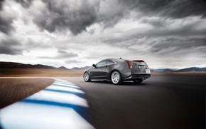 Обои дорога, Cadillac, скорость, CTS-V