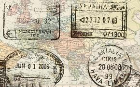 Картинка map, stamps, europe passport