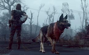 Картинка собака, Fallout-4, He got your back