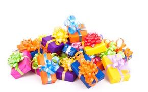 Картинка подарки, коробки, банты