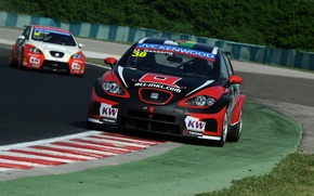 Картинка Leon, Seat, WTCC, чемпионат мира в классе туринг, World Touring Car Championship, Marc Basseng