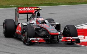 Картинка McLaren, Макларен, формула 1, formula 1, 2011, Malaysian GP, Sepang, Kuala Lumpur, McLaren MP4-26, Jenson …