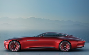 Обои car, wallpaper, Mercedes, red, Maybach, sea, beauty, comfort, luxury, automobile, vehicle, official wallpaper, desing, bold ...