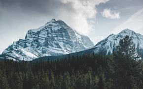 Картинка зима, снег, горы, природа