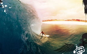 Картинка пляж, волна, серфинг
