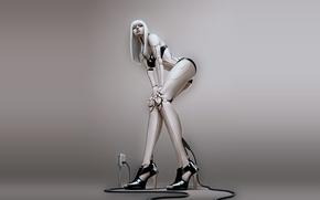 Обои девушка, робот, киборг