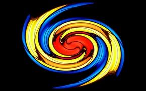 Картинка огонь, цвет, спираль