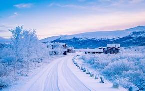 Обои dovre, norway, scandinavian mountains, довре, норвегия