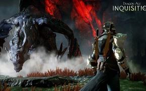 Картинка магия, дракон, броня, dragon age, инквизитор, rpg, bioware, inquisition