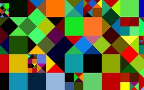 Картинка узор, краски, цвет, квадрат, треугольник