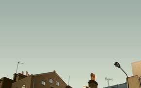 Обои дома, вектор, крыши