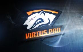 Обои дым, медведь, лого, counter-strike, Virtus.pro, Виртус.про, Виртуспро