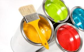 Картинка цвет, банки, с краской