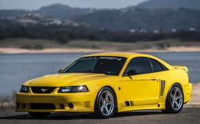 Картинка Ford, mustang, yellow, saleen