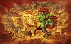 Картинка золото, Warcraft, Blizzard, гоблин, hearthstone, Hearthstone: Heroes of Warcraft