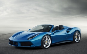 Обои ferrari 488, spider, car