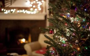 Картинка комната, праздник, ёлка