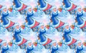 Обои снегурочка, фон, текстура, праздник, Новый год, девочка, белочка