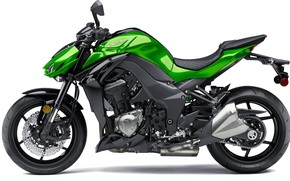 Картинка Мотоцикл, белый фон, 2016, Kawasaki Z1000