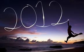 Картинка облака, пейзаж, природа, новый год, парень, 2012, new year, landscape, nature, clouds, boy, guy, jumb
