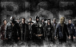Обои Morgan Freeman, The Dark Knight Rises, Кристиан Бэйл, Batman, Бэтмен, Том Харди, Темный рыцарь: Возрождение ...