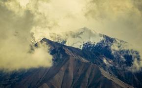 Картинка USA, Alaska, United States, Denali National Park, clouds, snow, United States of America, On Explore, …