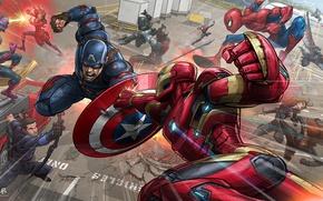 Обои Bucky Barnes, Black Widow, Black Panther, Falcon, Scarlett Johansson, PatrickBrown, Scarlet Witch, Ant-Man, Iron Man, ...