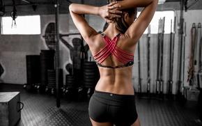 Картинка стиль, спина, фигура, фитнес, спортзал, Dani