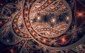 Картинка абстракция, фон, форма, фрактал