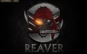 Картинка metal, skull, blood, wall, game, emblem, pirate, symbol, machete, knife, video game, FPS, powerful, sugoi, ...