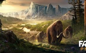 Картинка Far Cry, Ubisoft, Primal, Мамонты, Древнии