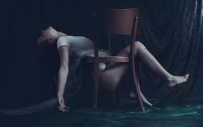 Обои Maja Ienascu, стул, dollhouse, фантазия, арт, девушка