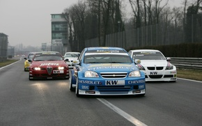 Картинка дорога, фон, трасса, борьба, BMW, гонки, Alfa Romeo, Автомобили, Сhevrolet, Seat, WTCC